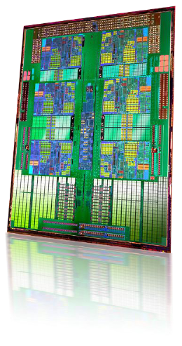 "AMD Opteron ""Istanbul"" 6-core processor die"