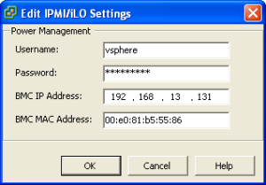 Configuring IPMI for DPM Host Management