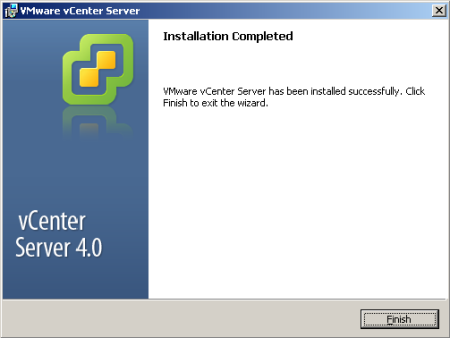 VMware vCenter Installation Complete!