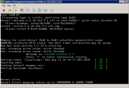 vMA Booting after Upgrade to Virtual Hardware Version 7