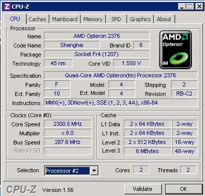 CPU-z CPU 2 of 2