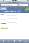 vCMA Login Screen, iPhone