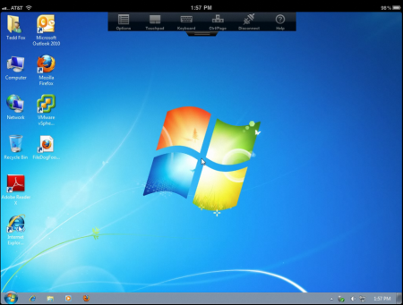 Windows7 running on iPad